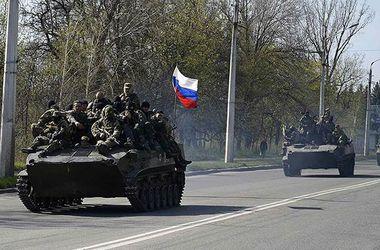 По Донецку едут террористы на танках
