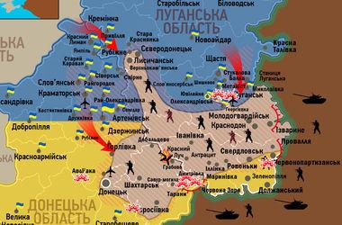 Карта боев в Донбассе по состоянию на 22 июля