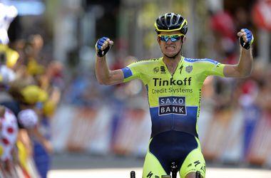 """Майкл Роджерс выиграл самый длинный этап """"Тур де Франс"""""""