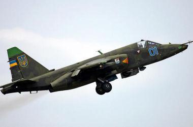 В Донецкой области упал штурмовик Су-25