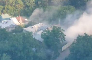 Ленинский район Донецка обстреляла артиллерия