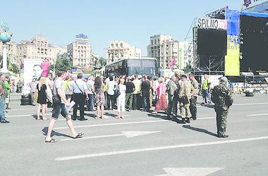 Активистов Майдана в столице не пустили в зону АТО