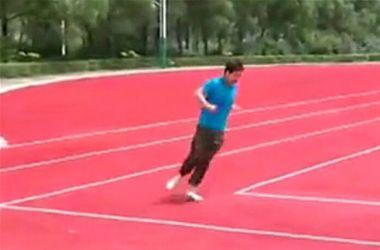 В Китае появился стадион с прямоугольными беговыми дорожками