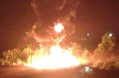 Под Харьковом произошел масштабный пожар