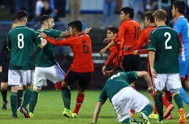 Жестокая драка во время матча юношеских команд