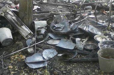 В пожаре на Михайловской площади в Киеве сгорели бронежилеты для бойцов АТО
