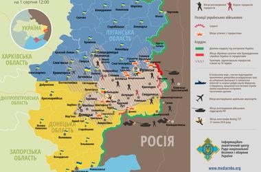 Карта боевых действий на Востоке: Силы АТО разорвали надвое зону контроля террористов (Инфографика)