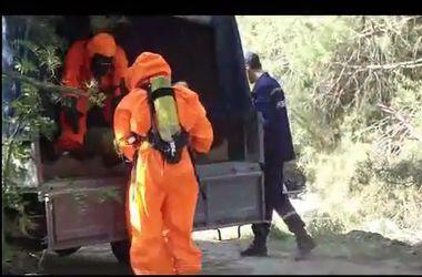 Баллоны с неизвестным газом нашли в столичном лесу