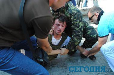 Как Самооборона Майдана ловила парня с гранатой в Киеве