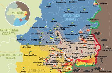 Карта боев в Донбассе по состоянию на 8 августа