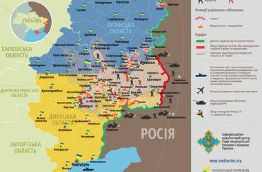 Карта боевых действий в зоне АТО: взята Марьинка, эпицентры боевых действий около Луганска и Дебальцево