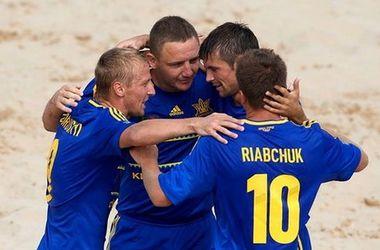 Сборная Украины обыграла Германию в пляжный футбол