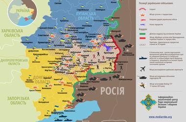 События в зоне АТО: карта боевых действий