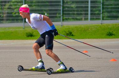Валя Семеренко - серебряный призер в гонке преследования на ЧМ по летнему биатлону