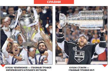 Сравниваем главные трофеи клубного футбола и хоккея