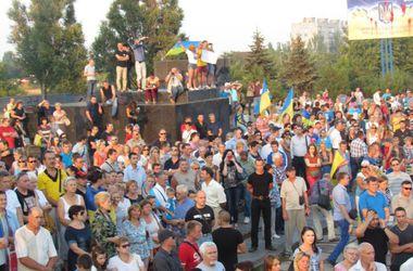 В Мариуполе митинговали против российской оккупации