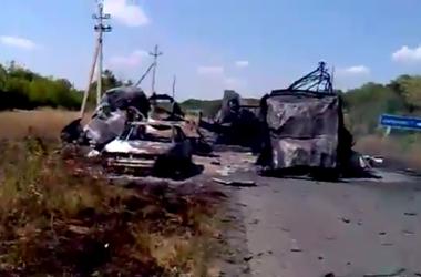 Уничтожена колонна террористов возле Лисичанска - СНБО
