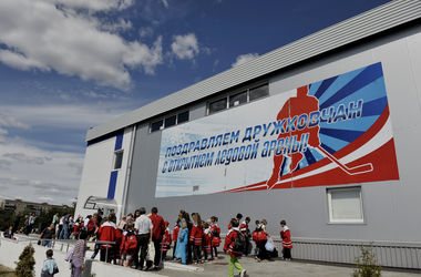 "ДЮСШ хоккейного клуба ""Донбасс"" открыла двери для детей из Славянска, Краматорска и Константиновки"