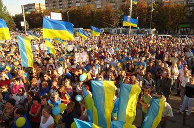 Многотысячный митинг за мир в Мариуполе закончился созданием нового добровольческого батальона