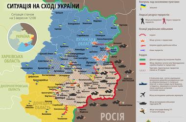 Карта боевых действий АТО: 5 сентября