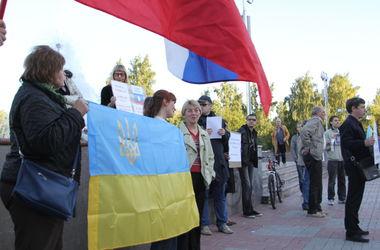 В Томске активисты требовали не лезть в Украину