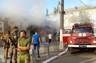 Взрыв в центре Славянска: двое постадавших
