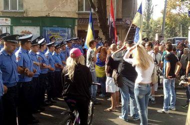 В Одессе схлестнулись участники митингов в поддержку армии и против НАТО