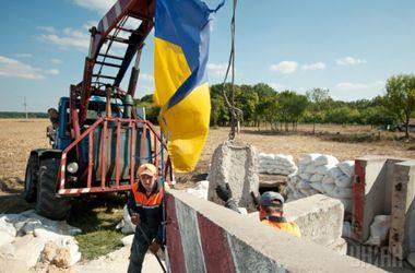 Запорожье начало отгораживаться бетонными глыбами от Донецка