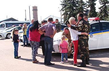 Из  Прикарпатья в зону  АТО  оправилась новая смена работников Госавтоинспекции