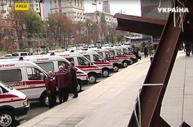 Столичная мэрия передала в зону АТО десять карет скорой помощи