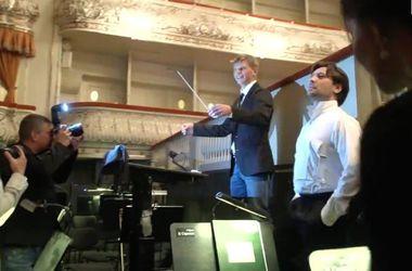 Андрей Аршавин попробовал себя в роли дирижера