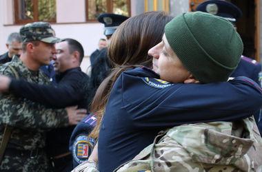 Закарпатские милиционеры отправились в зону АТО