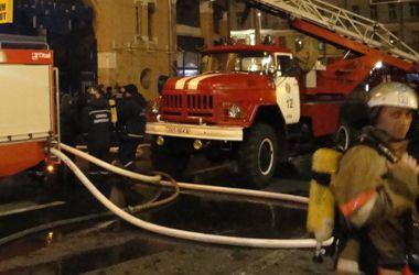 В Киеве горел трюм корабля