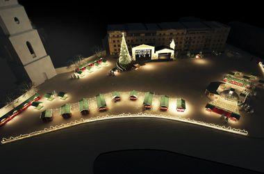 Новый год по-киевски: в городе будет живая елка и гетман в гирляндах