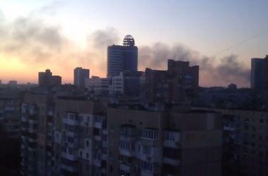 Как обстреляли центр Донецка
