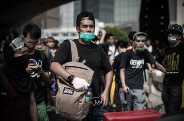 <p><span>Протестующие требуют проведения свободных местных выборо Фото: AFP</span></p>