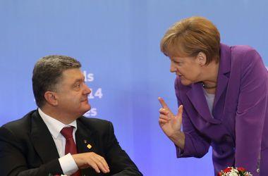 """Порошенко и Меркель констатируют отсутствие прогресса по выполнению """"перемирия"""""""