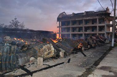 Под Одессой сгорел санаторий