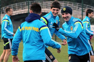 Тренировка сборной Украины в столице Беларуси