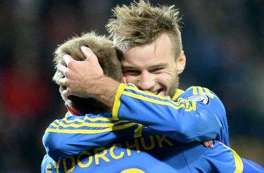 Моменты матча Беларусь - Украина