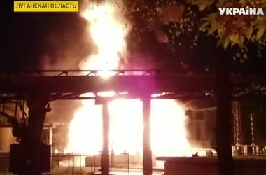 В Счастье снова обстреляли Луганскую теплоэлектростанцию
