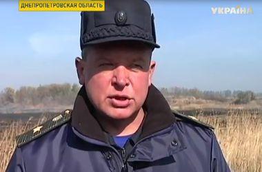 Почти пятьдесят гектаров камыша вспыхнуло неподалеку Днепропетровска