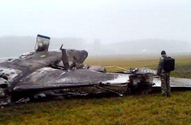 Первые кадры с места крушения самолета Falcon 50 во Внуково