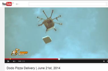 Владельца летающего робота в России оштрафовали за доставку пиццы