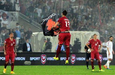Решение УЕФА по скандальному матчу Сербия - Албания: техническое поражение Албании и снятие очков с Сербии
