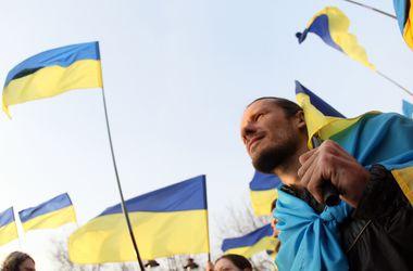 В Киеве устроили флэшмоб, чтобы собрать средства для студентов, находящихся в зоне АТО