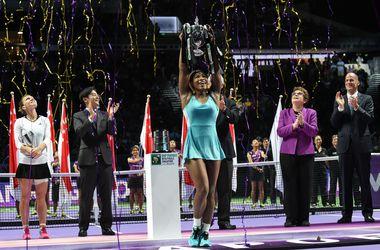 Яркие кадры с церемонии награждения Итогового чемпионата WTA