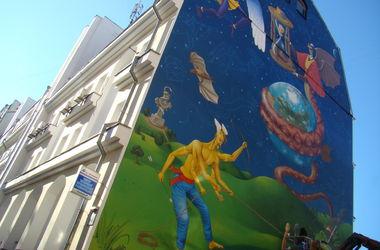 В среду в Киеве презентуют новое граффити на всю стену