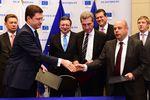 Лидеры РФ, Украины, Франции и Германии приветствуют финал спора по газу