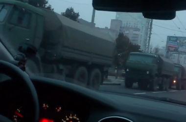 В Донецк заехала колонна военной техники